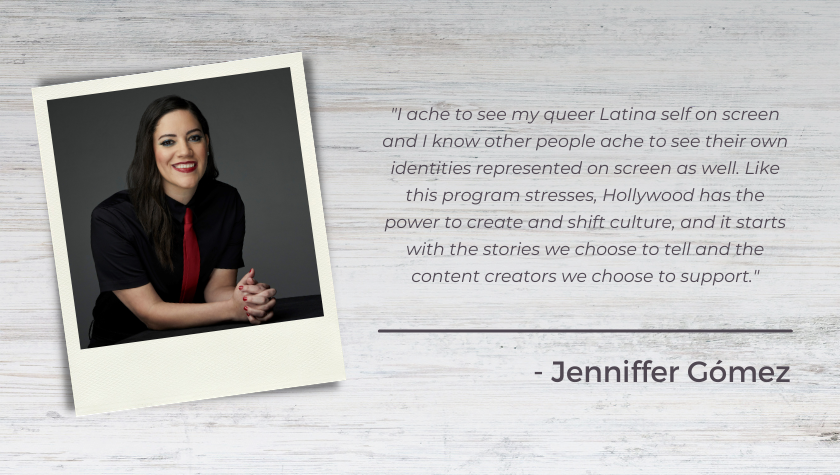 Screenwriter-Producer Jenniffer Gómez on Mentoring In The Disruptors Fellowship