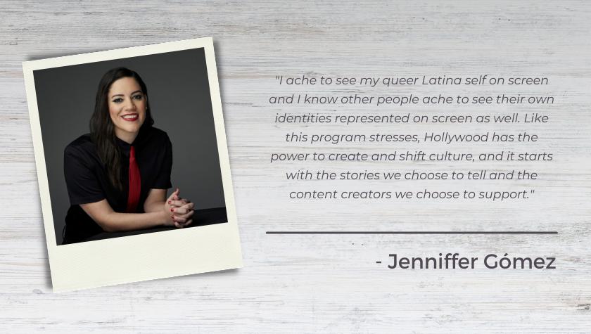 Screenwriter-Producer Jenniffer Gómez on Mentoring In The Disruptors Fellowship