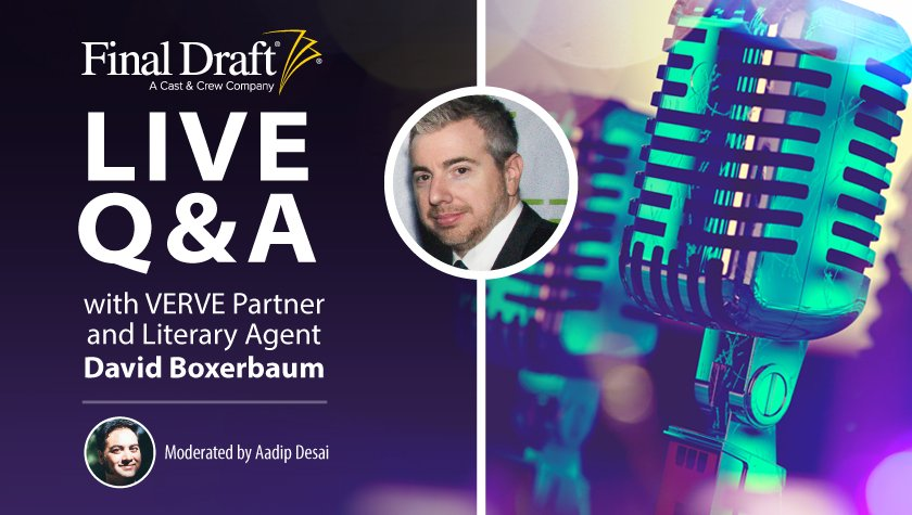 Live Q&A with VERVE Partner and Literary Agent David Boxerbaum
