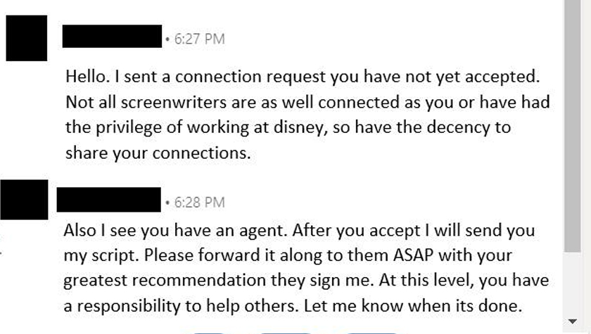How Not to Network as a Screenwriter